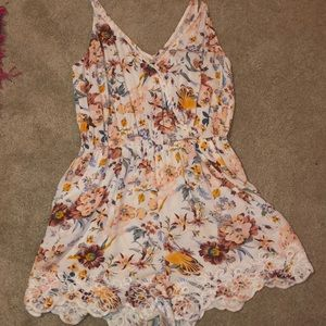 Romper with flowers